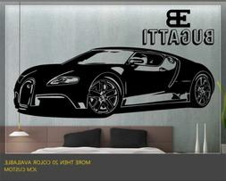 JCM Custom Bugatti Veyron Supercar Removable Wall Vinyl Deca