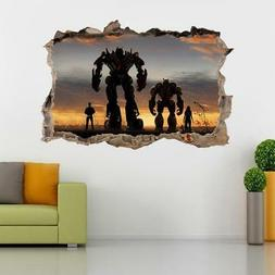 Bumblebee Optimus Prime Decal 3D Smashed Wall Sticker Mural
