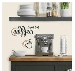 BUT COFFEE FIRST WALL DECALS QUOTE Room Decor Stickers Cup K