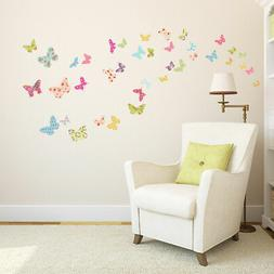 Decowall Butterflies Nursery Kids Removable Wall Stickers De