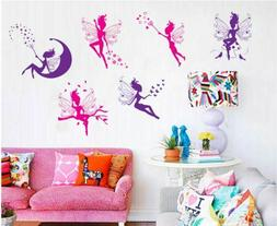 butterfly angel fairy star wall decals removable