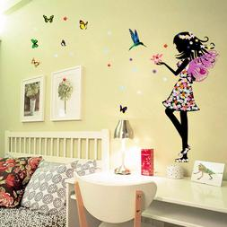Butterfly Elf Arts Wall Sticker For Kids Girls Rooms Home De