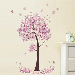 Butterfly Tree Flowers Vinyl Wall Sticker Decal Nursery Kids