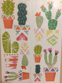 CACTUS PLANTS wall stickers 10 big decals south western room