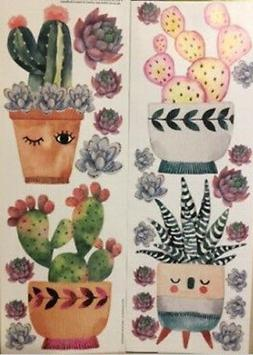 CACTUS PLANTS wall stickers 25 decals south western room dec