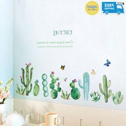 BIBITIME CACTUS Wall Decal Peel and Stick Wall Stickers Gree