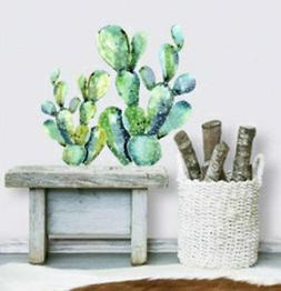 CACTUS wall stickers 2 big watercolor decals kitchen decor c