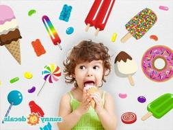 Candy Fabric Wall Decals, Reusable, Repositionable by Sunny