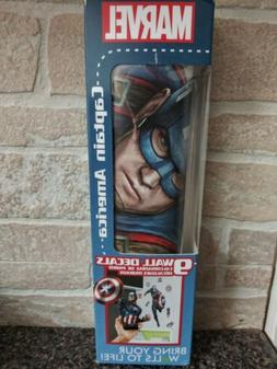 captain america 17x27 wall decal augmented reality