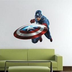 Captain America Decal, Wall Decal, Marvel Comic Decals, Aven