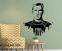 Captain America Wall Decal Superhero Children Room Vinyl Wal