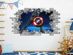 captain america wall decals superheroes avengers vinyl