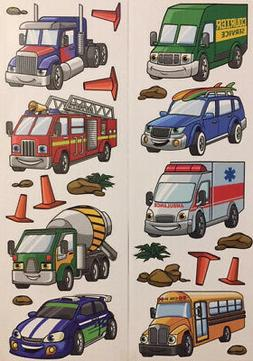 CAR TRUCKS BUS wall stickers 23 decals transportation signs