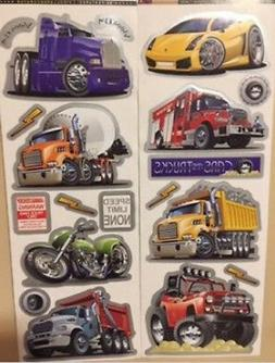 CAR TRUCKS MOTORCYCLE wall stickers 19 decals transportation