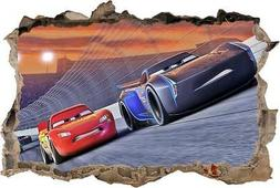 Cars Movie 3 Smashed Wall Decal Sticker Art Disney Mcqueen J