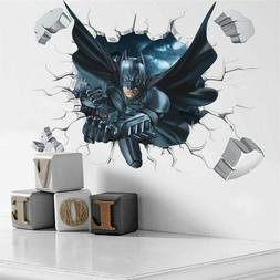 Cartoon Boy's Hero Batman Spiderman Wall Sticker For Kids Ro