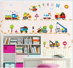 Cartoon Cars Child Room Wall Stickers For Kids Room Boy Bedr