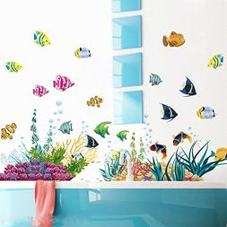 Wallpark Cartoon Colorful Underwater World Fishes Sea Plants