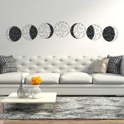 Cartoon Moon Phases Vinyl Wall Decal - best for darker vinyl
