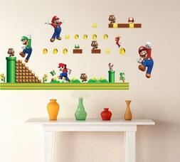 Cartoon Super Bros Mario 3D Stickers Kids Baby For Room Wall