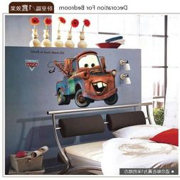 Cartoon SUV 3D Wall Stickers For Boys Room Livingroom Kids C