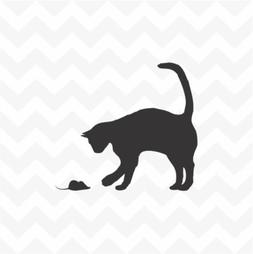 Cat and Mouse Vinyl Light Switch Decal Sticker Wall Accent H