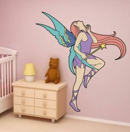ced338 Full Color Wall decal Sticker Fairy for girls living