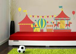ced355 Full Color Wall decal Sticker Circus amusement bedroo