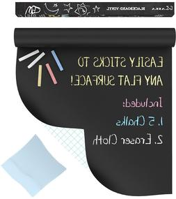 Kassa Chalkboard Wall Sticker Roll  - 5 Chalk Included - Bla