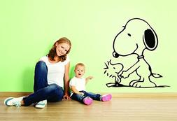 Charlie Brown and Snoopy Wall Vinyl Art Decal/Peanuts Cartoo