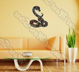 Cheerful Snake Abstract Ornament Colorful Wall Sticker Inter