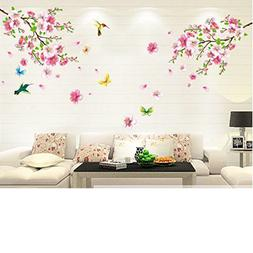 cherry blossom tree flower butterfly wall sticker