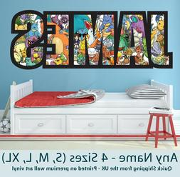 Childrens Name Wall Stickers Art Personalised Pokemon for Bo
