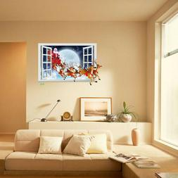 Christmas Santa Claus Removable Furniture Vinyl Window Wall