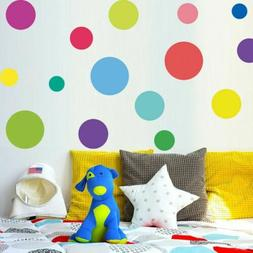 circle polka dots wall sticker color teaching