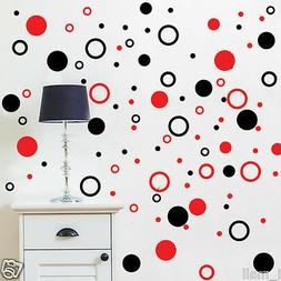 Circles Polka dot 2 colour ways Removable wall stickers for