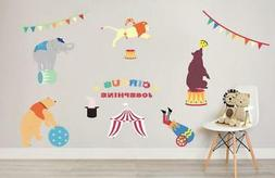 Circus Animals Personalized Wall Sticker Decal Decor Art Nur