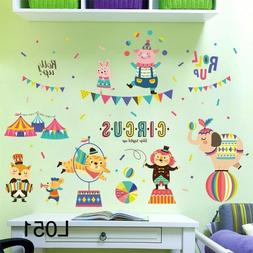 Circus show Wall Decal Sticker Removable kids nursery decor