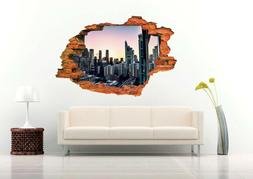 City View 3D Wall Decal Removable Vinyl Sticker Mural Wall A