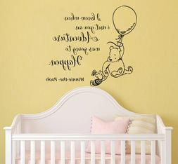 Classic Winnie The Pooh Wall Decals Quotes Nursery Kids Room