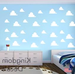 Clouds Childrens Bedroom Wall Vinyl Sticker Decals Toy Story