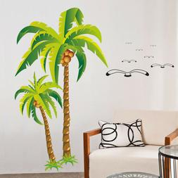 Coconut Tree Wall Stickers Mural Art 3D Decals Wallpaper Dec
