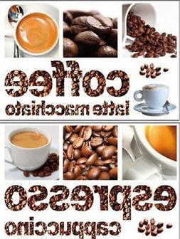 COFFEE wall stickers 13 decals cup Espresso Beans Latte Capp