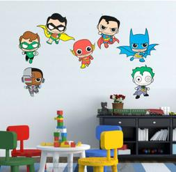 Comic Kids Superheros Marvel  Wall Stickers Boy Girls Decor