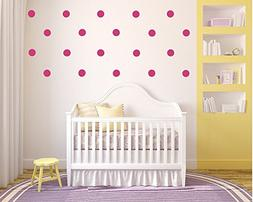 "Confetti Vinyl Polka Dot Wall Decals - 35 count of 3"" dots"