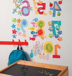 WALLIES COUNTING NUMBERS wall stickers 65 decals interactive