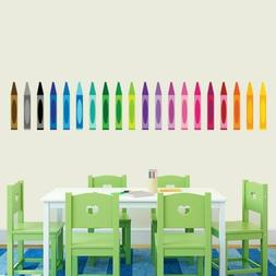 Crayons Printed Wall Decal - Coloring, Nursery and Kids, Cla