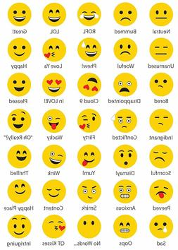 CREATE A EMOJI DRY ERASE Wall Decals Face Bubble Creation Ro