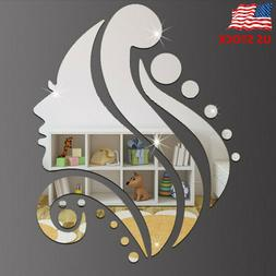 Creative 3D Wall Sticker Removable Mirror Beauty Pattern Wal