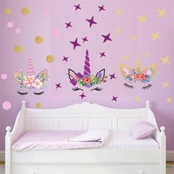 Creative Stars Wall Stickers For Girls Bedroom Flowers Wall